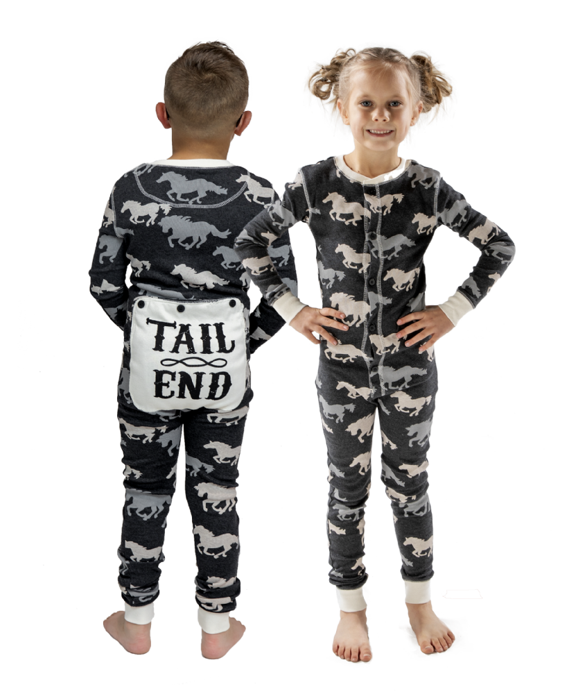 Tail End Horse Flapjacks - Kids Onesie Pyjamas - LazyOne®